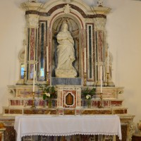 Cardeto - Santuario della Madonna di Mallemace - Statua ed altare di SS. Maria Assunta di Mallemace - Foto Enzo Galluccio